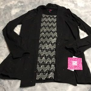 Girls Pullover Blouse With Attached Vest. NWT!